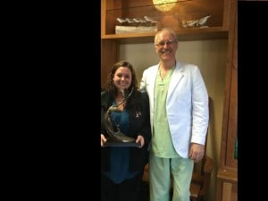 Chiropractor Anchorage AK William Ross and contest winner Ciera Duvall
