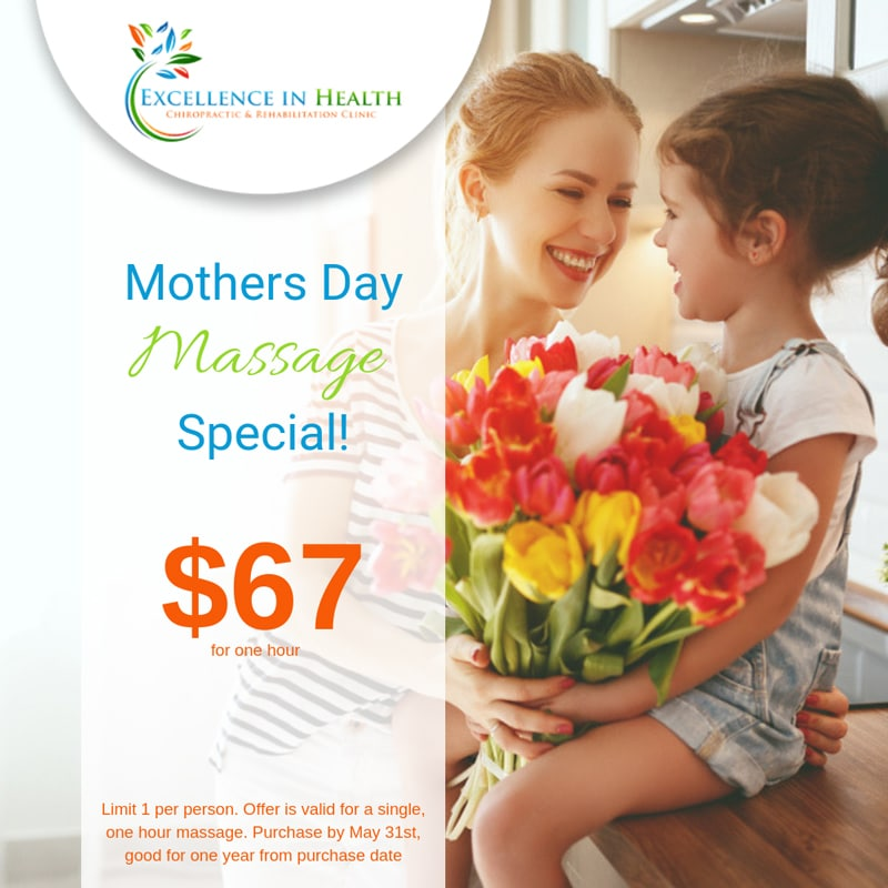 Mother's Day Special at Excellence in Health Chiropractic & Rehab Clinic