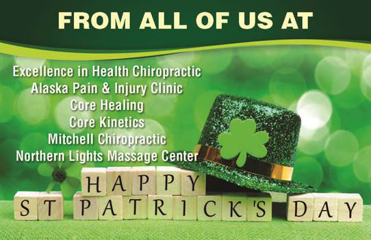 Happy St Patricks Day at Excellence in Health Chiropractic & Rehab Clinic