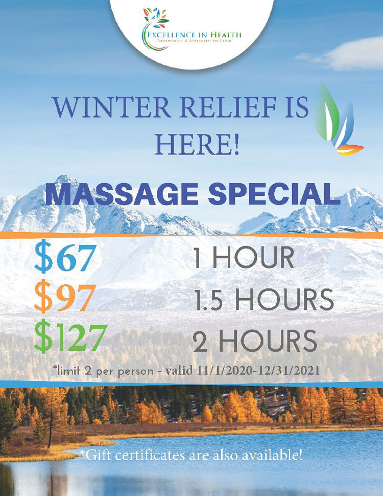 Chiropractic Anchorage AK Massage Therapy Special at Excellence in Health Chiropractic & Rehab Clinic